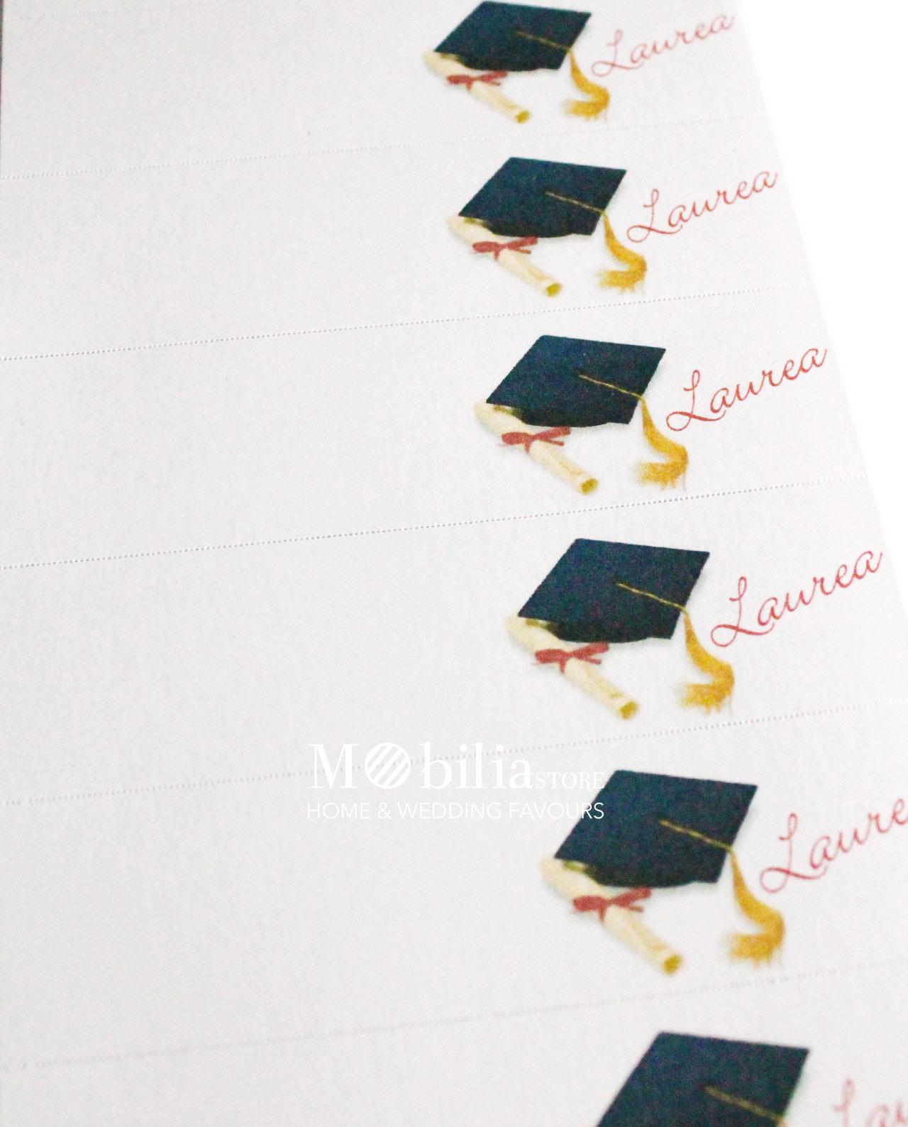 Préférence Bigliettini bomboniere laurea con pergamena e tocco set 10 pz  ER15