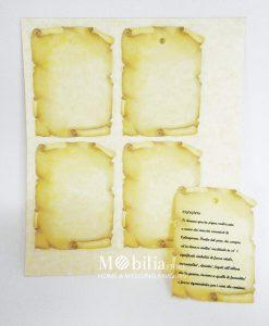 Cartoncini Segnaposto Panna Da Stampare Mobilia Store Home Favours