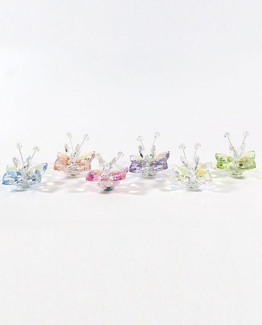 bomboniere farfalle cristallo colorato tufano