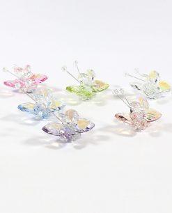 bomboniere farfalle in cristallo swarovski colorate tufano