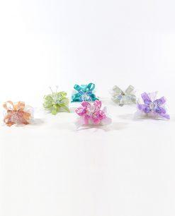 bomboniere tubicini confezionati con farfalle cristallo tufano
