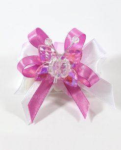 bomboniere tubicino con farfalla cristallo rosa tufano