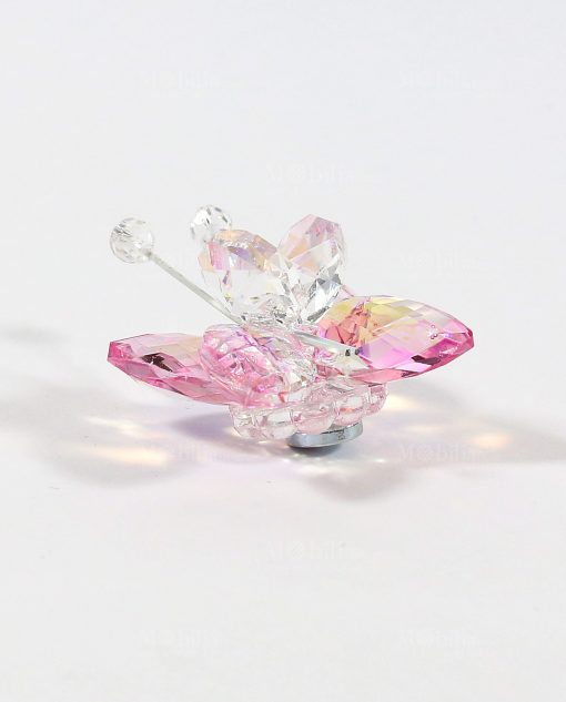 farfalla in cristallo rosa swarovski tufano