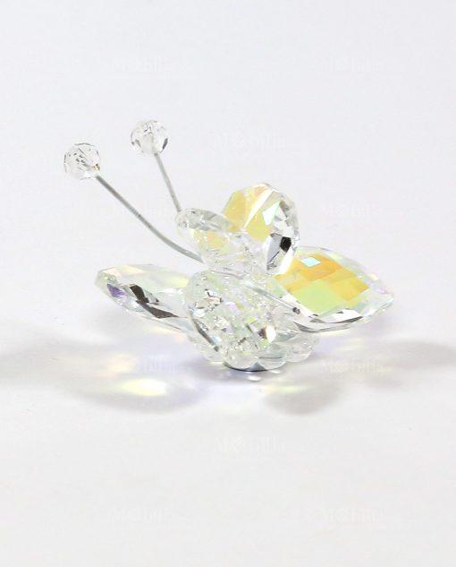 farfalla in cristallo swarovski bianco tufano