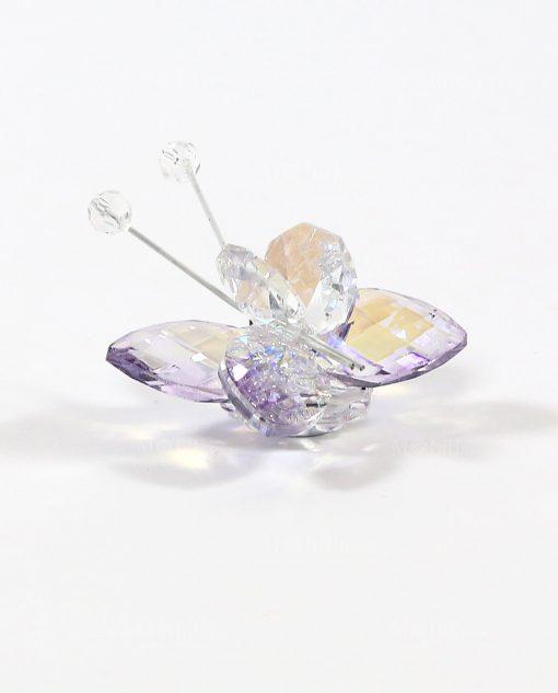 farfalla in cristallo swarovski viola tufano