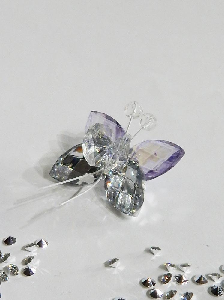 Farfalla calamita cristallo vari colori for Consolle argento economica