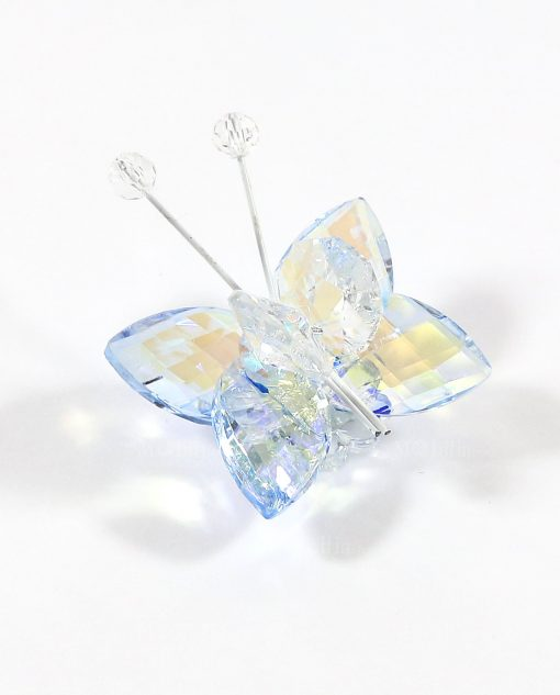 farfalle in cristallo blu tufano