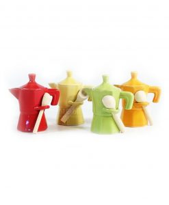 originale Moka colorata set 4 pezzi