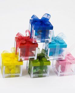 scatolina portaconfetti con tappo lego colori assortiti
