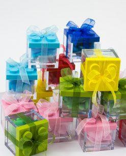 scatolina portaconfetti lego confezionata colori assortiti