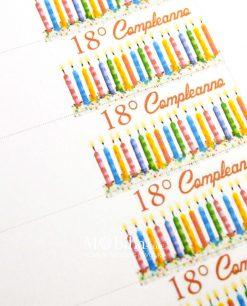 18° compleanno candele dettaglio
