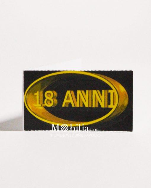 18 anni ovale oro