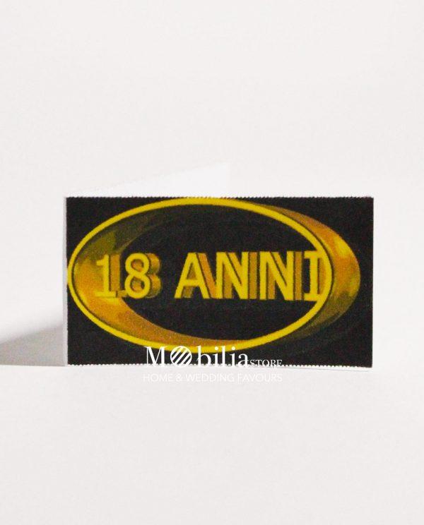 Bigliettini bomboniere 18 Anni Logo Oro