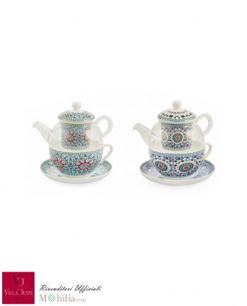 Teiera e tazza insieme Bisanzio Villa d'Este