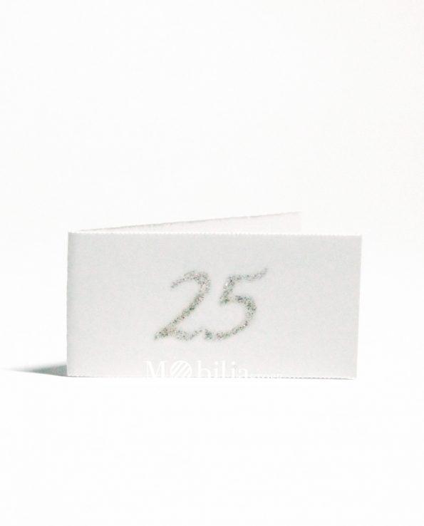 Bigliettini bomboniere 25 Anni Matrimonio Glitter
