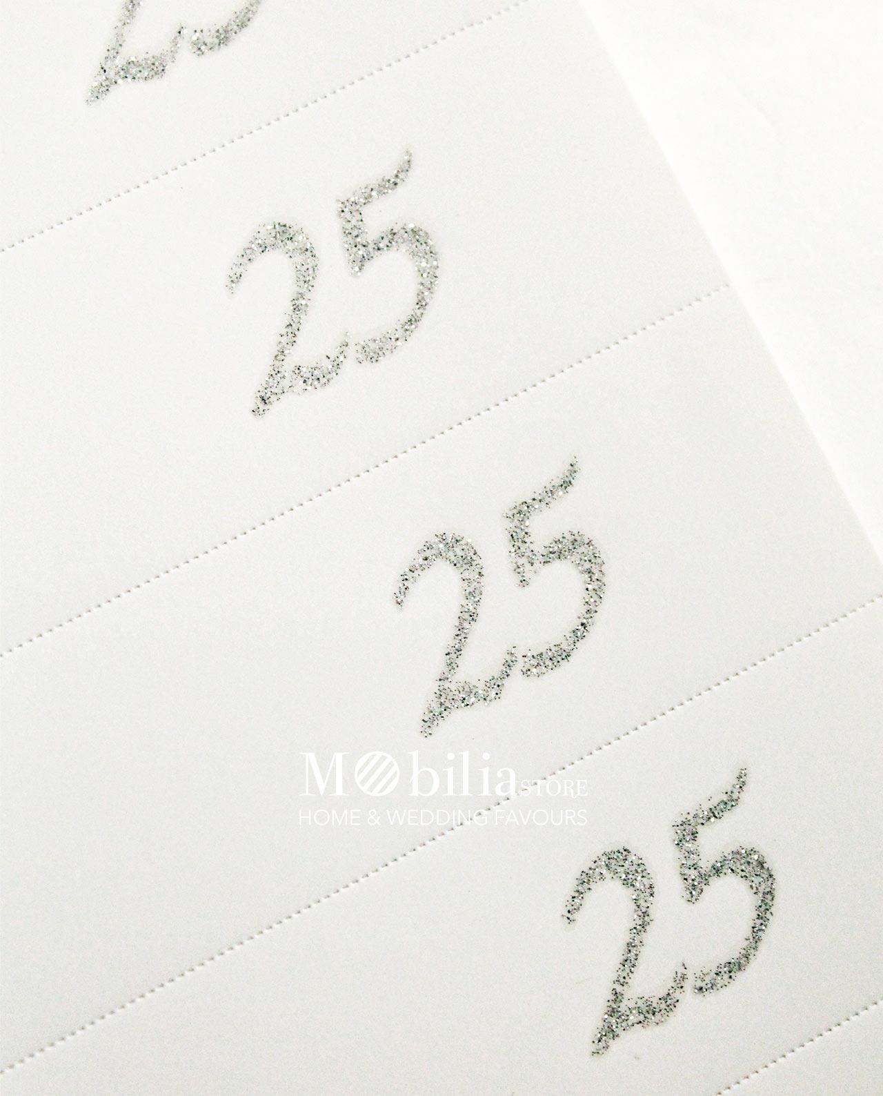 bigliettini 25 anni matrimonio da stampare hh18