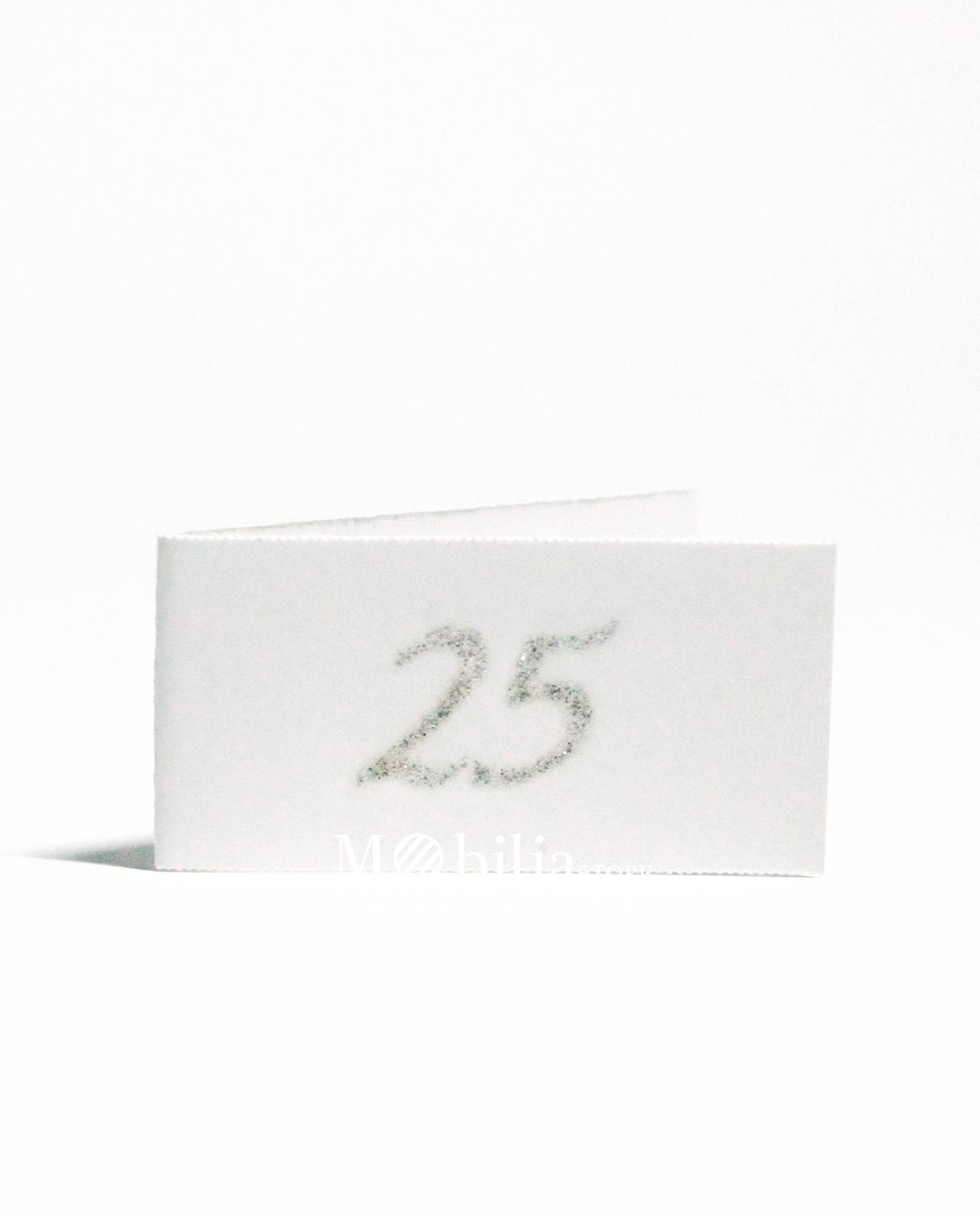 Bigliettini bomboniere 25 anni matrimonio glitter for Anniversario di 25 anni di matrimonio