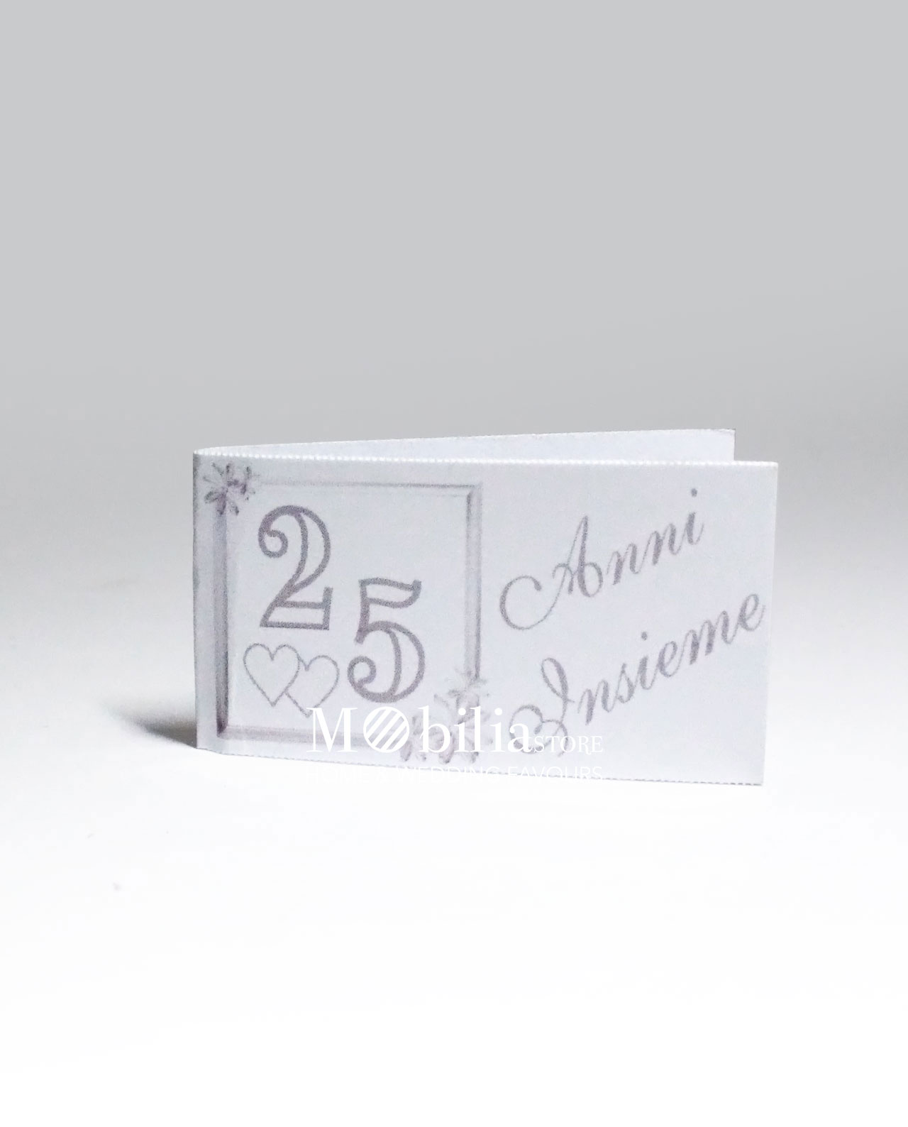 Preferenza Biglietti per bomboniere 25 anni di matrimonio set 10 pezzi JG61