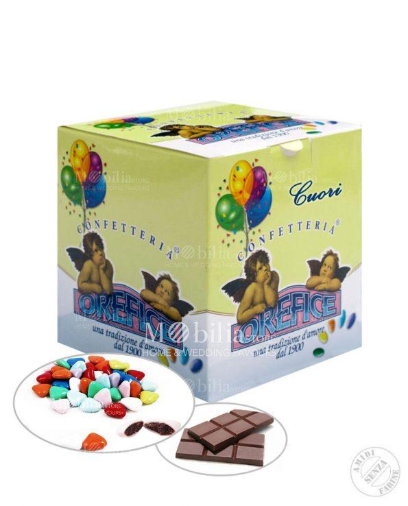 Confetti ripieni Cuori al cioccolato