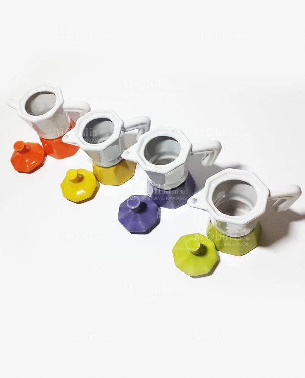 Bomboniera moka caffe vari colori