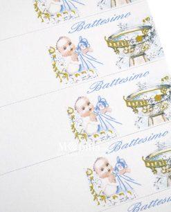 battesimo bimbo con fonte battesimale azzurro dettaglio
