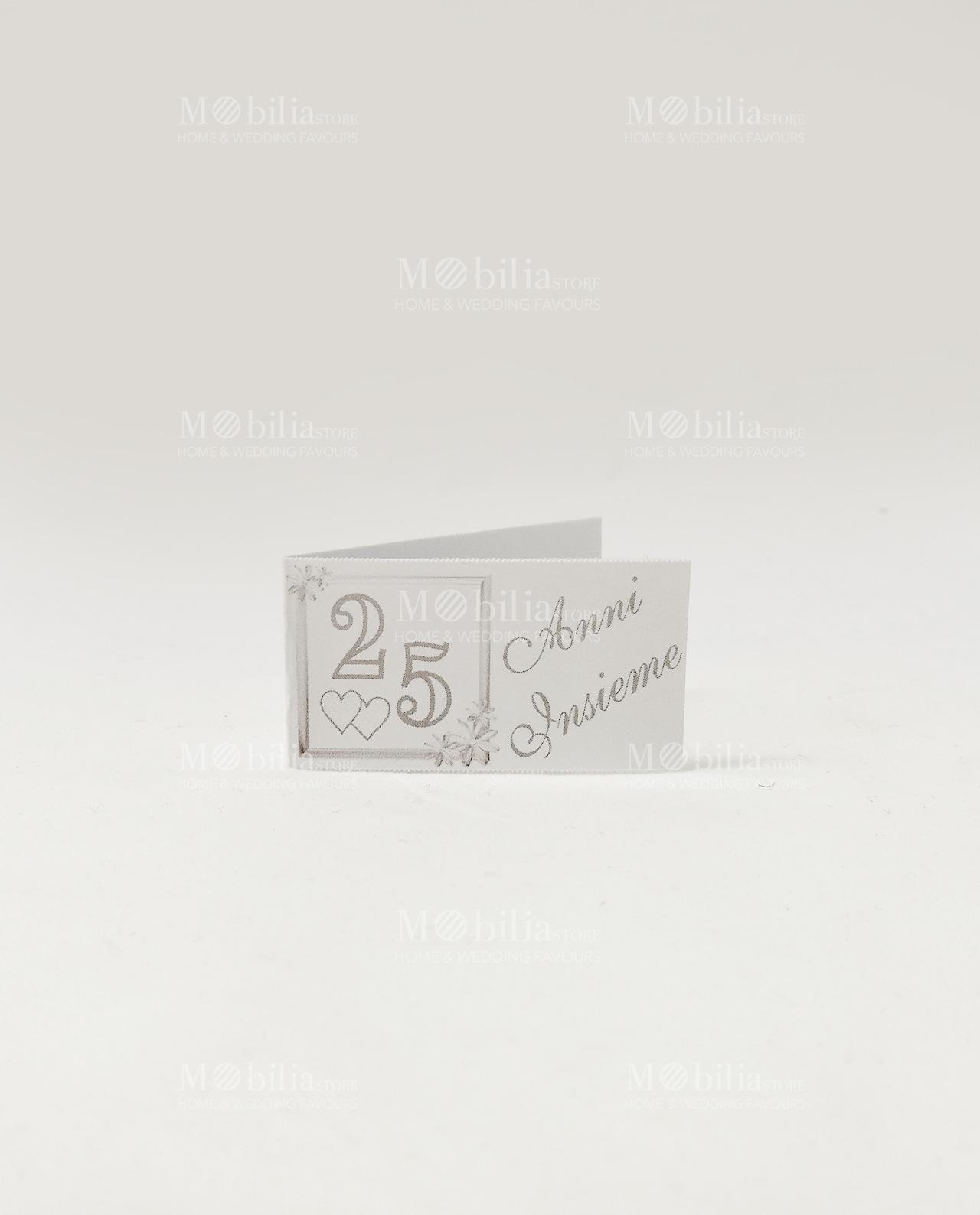 Bigliettini 25 anni matrimonio da stampare xg21 pineglen for Bomboniere per i 25 anni di matrimonio