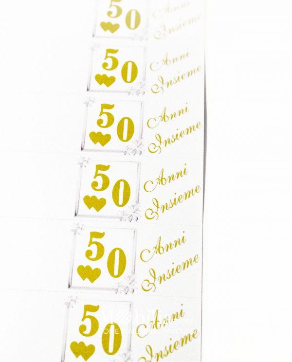 Bigliettini bomboniere 50 Anni Insieme Matrimonio