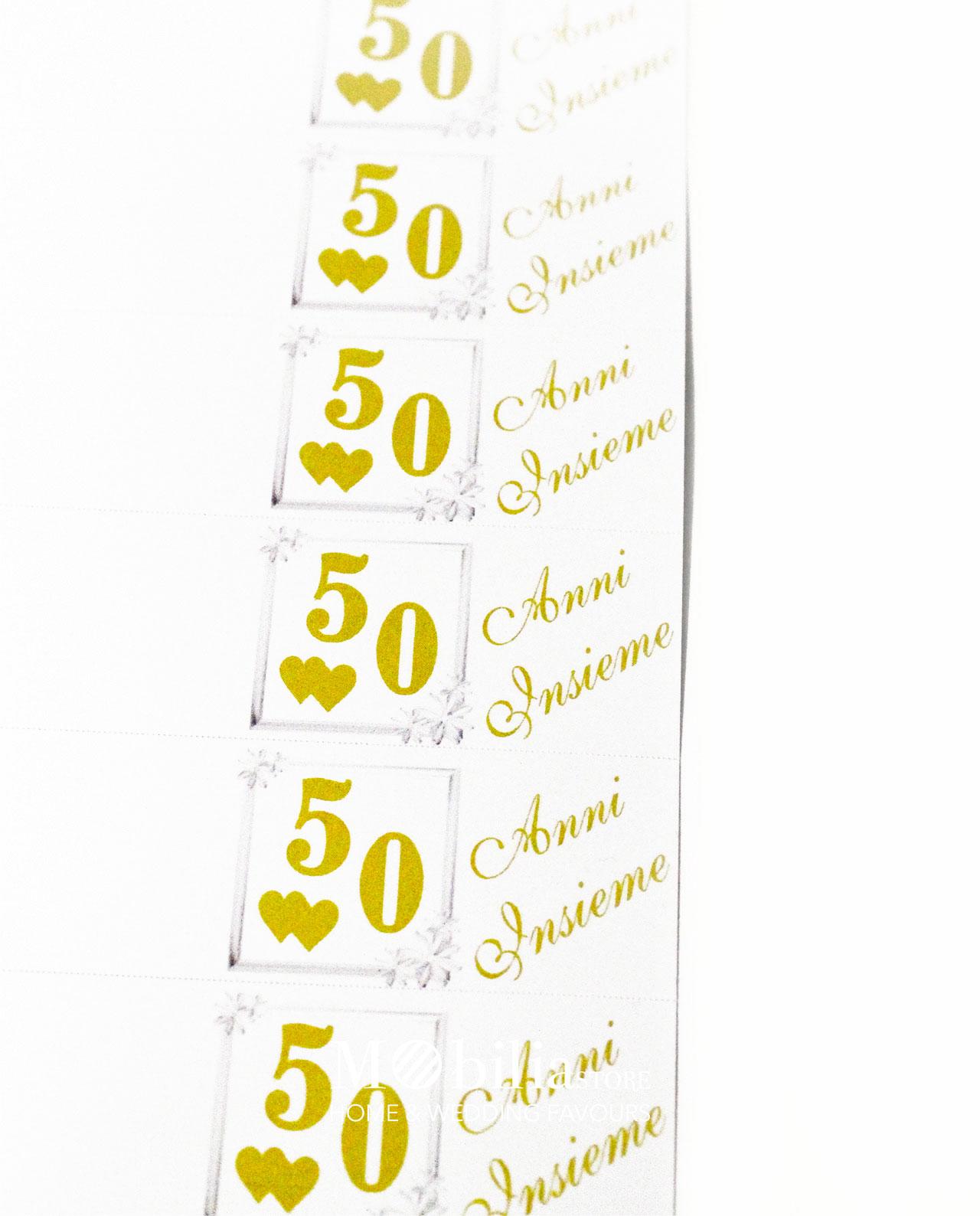 spesso bomboniere 50 Anni Insieme Matrimonio EQ12