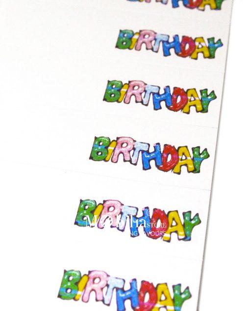 bigliettino birthday colorato dettaglio