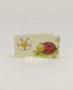 bigliettino coccinella avorio