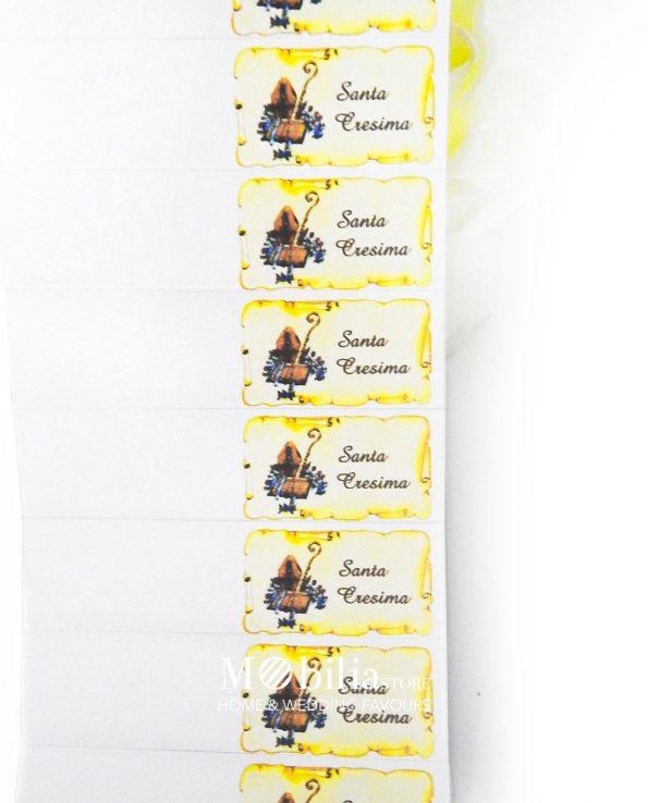 Bigliettini bomboniere Cresima con Pergamena