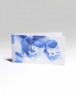 Bigliettini con Scarpette azzurre