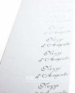 bigliettino nozze dargento dettaglio
