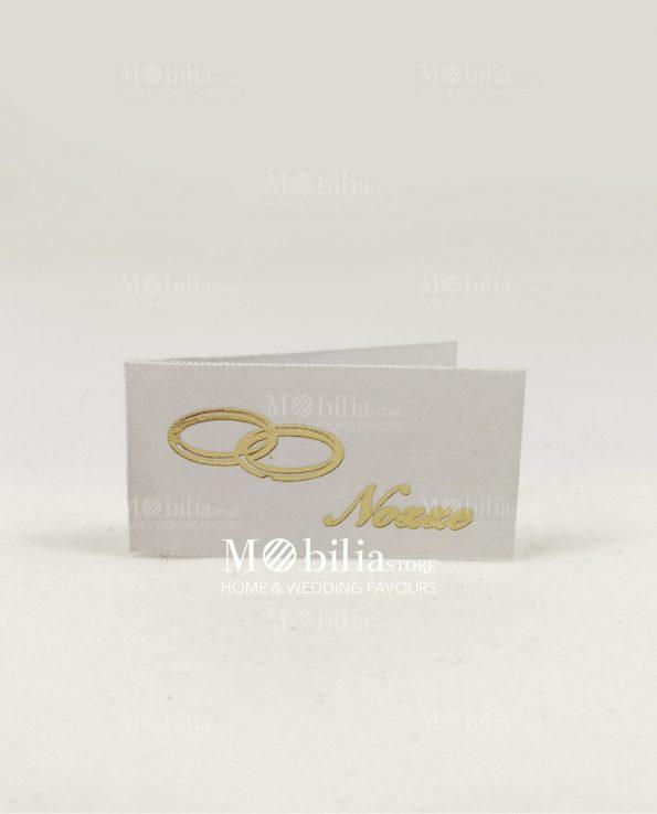 Bigliettini per bomboniere Fedi Oro Matrimonio