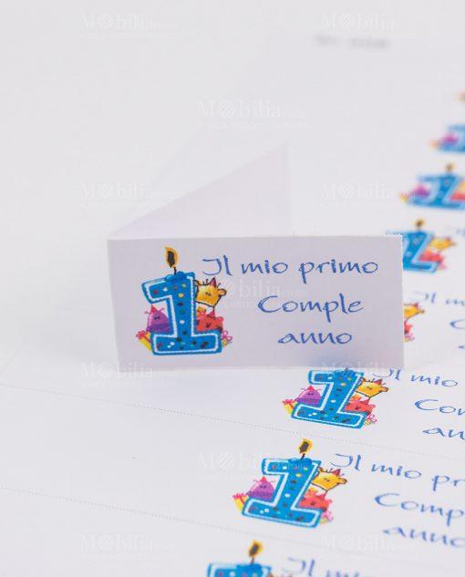 bigliettino primo compleanno bimbo