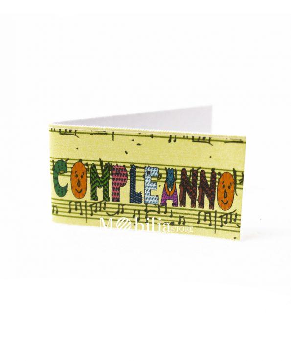 Bigliettini bomboniere Compleanno Note Musicali