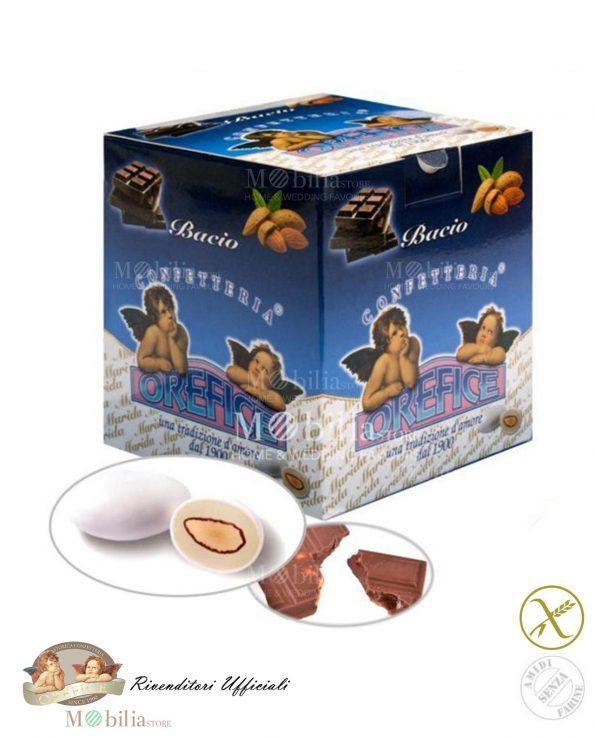 Confetti ripieni senza Glutine Mandorla Cioccolato Fondente Bacio