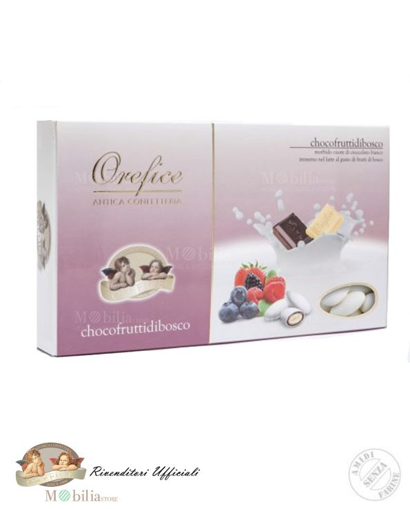 Confetti Ripieni con Doppio Cioccolato al gusto Frutti di Bosco