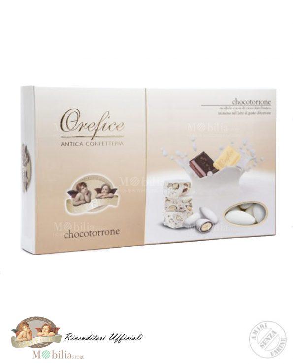 Confetti Bianchi Ripieni con Doppio Cioccolato al gusto Torrone
