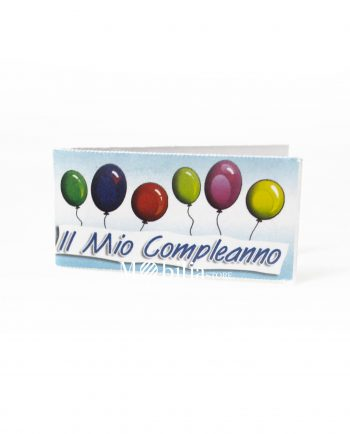Bigliettini bomboniere Compleanno Palloncini Multicolor