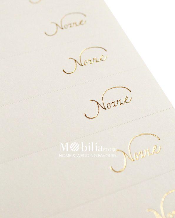 Bigliettini bomboniere Matrimonio Scritta Oro