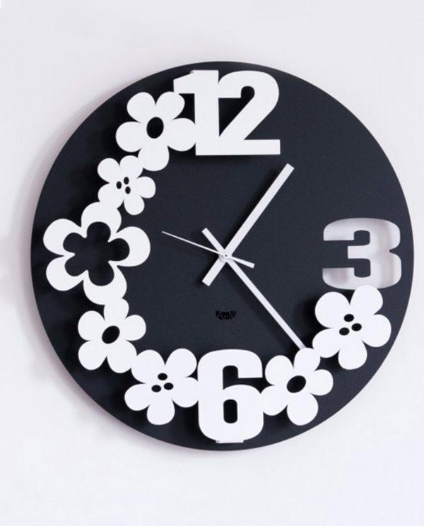 orologi con fiori margherita colore nero arti e mestieri