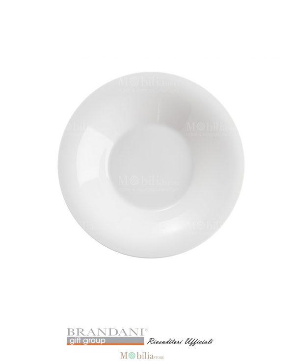 Piatto Bianco Design Moderno Panna Montata Brandani