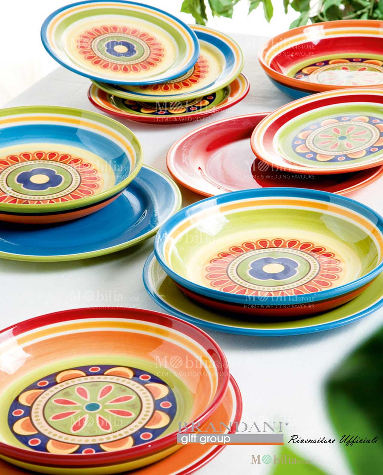 Servizio piatti messico brandani ironstone 4 posti tavola for Servizio di piatti