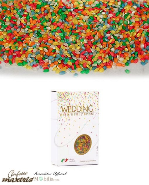 riso colorato matrimonio maxtris