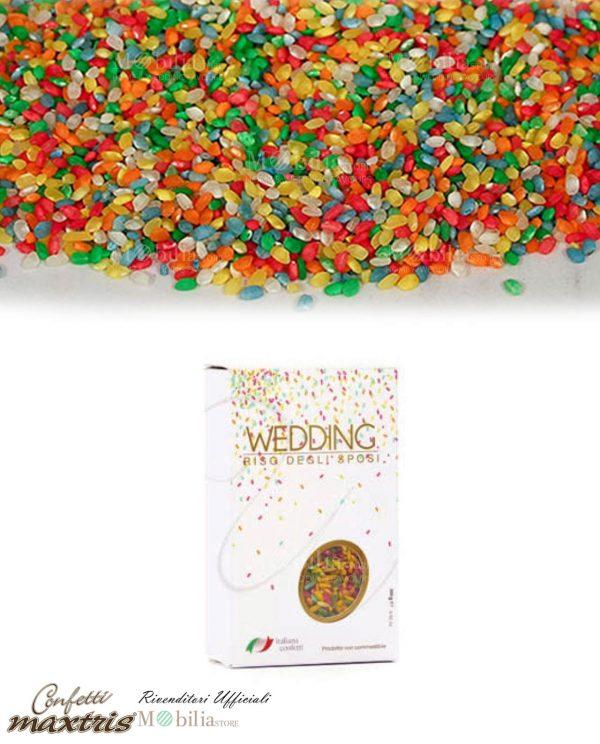 Riso Colorato per Matrimonio Antimacchia Maxtris