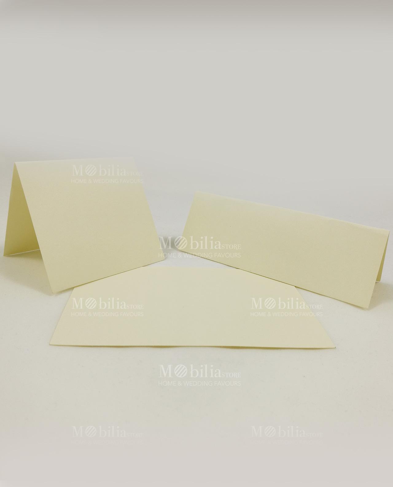 Cartoncini Segnaposto Matrimonio Da Stampare.Cartoncini Segnaposto Panna Da Stampare Mobilia Store Home Favours