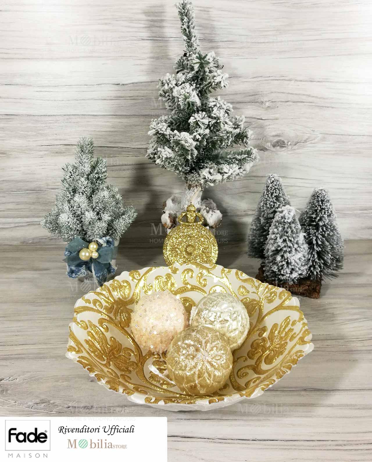 Centrotavola natalizi vetro color oro mobilia store home - Centrotavola natalizi ...