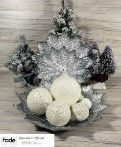 Centrotavola e piatti argento