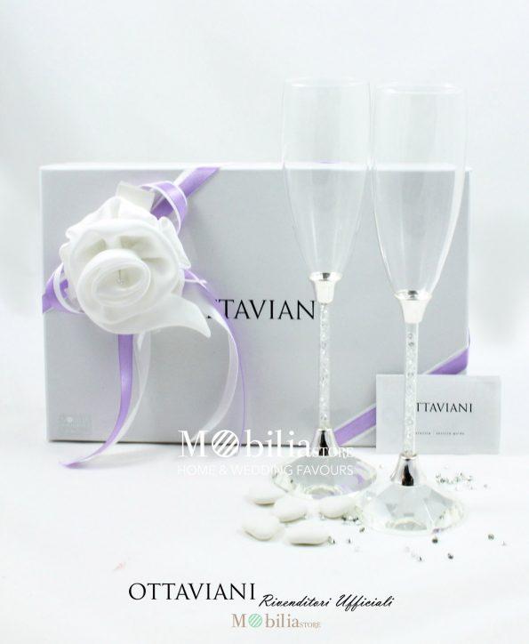 Bomboniere Matrimonio Bicchieri Ottaviani Confezionati con Rosa